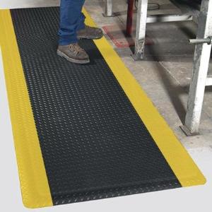 "Northern Safety 12724 Floor Mat, 3' x 10', 15/16"" Thick, Anti-Slip/Fatigue"