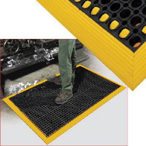 """Northern Safety 29606 Drainage Floor Mat, 38"""" x 52"""", 7/8"""" Thick, Anti-Slip/Fatigue"""