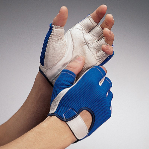 Northern Safety 13171 Gloves, Goatskin Leather & Mesh, Anti-Vibe Half Finger, X-Large
