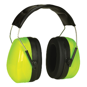 Northern Safety 27333 Ear Muffs, NRR 27dB, H-Visibility, Padded Headband, Foldable for Storage