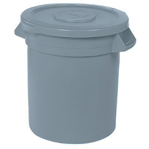 Northern Safety 5821 Trash Can w/o Lid, 44 Gallon, Gray