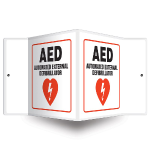 Northern Safety 28498 AED Sign, Projection