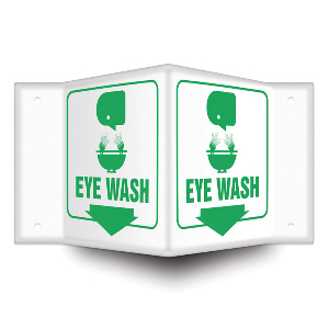 Northern Safety 15025 Eye Wash Sign, Projection