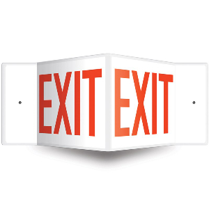 Northern Safety 15031 Exit Sign, Projection