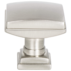 "1-1/4"" Brushed Nickel Knob, Tailored Traditional, Berenson 1272-1BPN-P"
