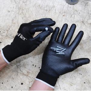 Northern Safety 28881 Gloves, Polyurethane Coated Nylon, Non Linting, Medium