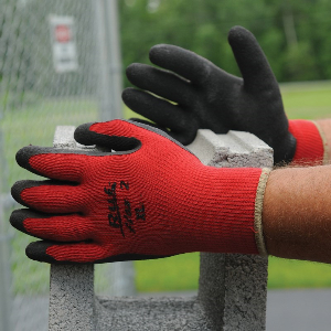 Northern Safety 30746 Gloves, Rubber Coated Cotton, General Use, Large