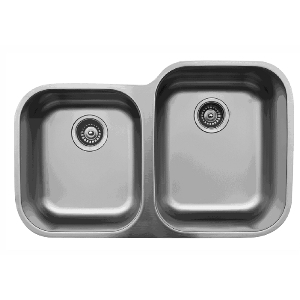 "Karran U6040L, 31-1/2"" x 20-1/8"" Undermount Bar/ Prep Sink, Single Bowl, Stainless Steel"