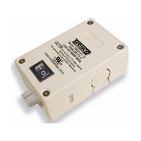 Tresco Black Hardwire Box with On/Off Switch, L-HWB-BL-T5-S-1