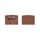 Tresco Infinex Square End Cap Set, Dark Brown, L-XSQRECP-B1-1