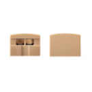 Tresco Infinex Square End Cap Set, Tan, L-XSQRECP-B2-1
