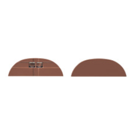 Tresco Infinex Curved End Cap Set Dark, Brown, L-XCRVECP-B1-1