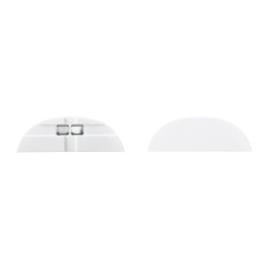 Tresco Infinex Curved End Cap Set, White, L-XCRVECP-WH-1