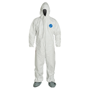 Disposable Coveralls with Elastic Wrists, Boots & Hood, Large, Northern Safety 24165-L