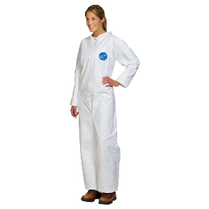 White DuPont™ Tyvek® Coveralls, Open Wrists and Ankles, Collar Coveralls, 2 Extra Large, Northern Safety 24162-2XL