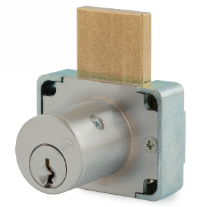 "1-5/8"" Cylinder N-Series Pin Tumbler Deadbolt Lock, Keyed KA107, Satin Chrome, Olympus Lock 200DW-26D158-107"