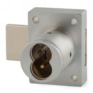 "1-1/4"" Cylinder Interchangeable Core Deadbolt Lock, Satin Chrome, Olympus Lock 721DR-26D"