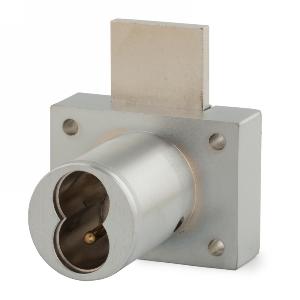 "1-1/4"" Cylinder Interchangeable Core Drawer Lock, Satin Chrome, Olympus Lock 721DW-26D"
