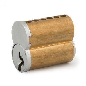 6 Pin Core SFIC Cylinder, Keyway F, Satin Chrome, Olympus Lock 206-F-26D