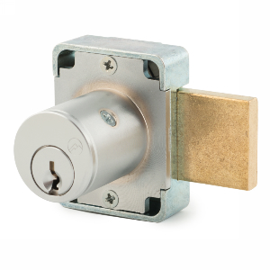 "15/16"" Cylinder N-Series Pin Tumbler Deadbolt Lock, Keyed KDMKD, Satin Chrome, Olympus Lock 100DR-26D78-KDMK"
