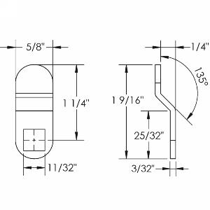 """1/4"""" Offset Cam, Olympus Lock DCP-LBC"""