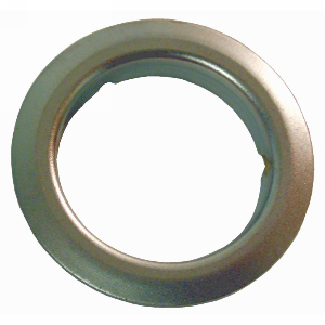 "1-1/8"" Diameter Hole Trim Ring, Bright Brass, Olympus Lock TR78-US3"