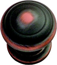 Hickory Hardware P2283-OBH Round Ring Knob, dia. 1-1/4, Oil Rubbed Bronze Highlighted, Zephyr Series