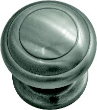 Hickory Hardware P2283-SN Round Ring Knob, dia. 1-1/4, Satin Nickel, Zephyr Series