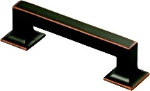 Hickory Hardware P3011-OBH Footed Handle, Centers 96mm, Oil Rubbed Bronze Highlighted, Studio Series