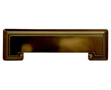 Hickory Hardware P3013-VBZ Cup/ Bin Handle, Centers 3-3/4 (96mm), Venetian Bronze, Studio Series