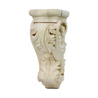 Grand River CB403-A, Machine Carved Wood Corbel, Acanthus Collection, 3-1/2 W x 2-1/2 D x 6-1/2 H, Alder