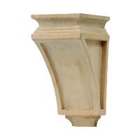 Grand River CB101-A, Machine Carved Wood Corbel, Lantern Collection, 3-1/2 W x 3-7/8 D x 6-5/8 H, Alder