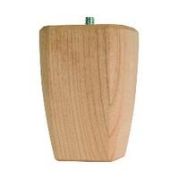 Grand River BF2746-M, Machined Wood Bun Foot, Square Taper Style, 2-1/2 W Sq. x 4 H, Maple