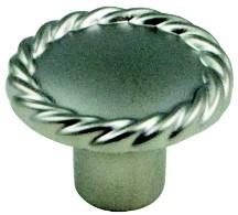 Berenson 7182-1015-C Round Design Knob, dia. 1-3/8, Satin Nickel, Maestro