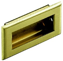 """KV 819X PB, Polished Brass 3-1/4"""" Recess Pull, Solid Brass, Knape and Vogt"""