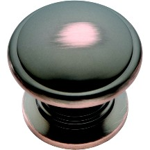 Belwith K44-OBH Round Ring Knob, dia. 1-1/4, Oil Rubbed Bronze, Prestige