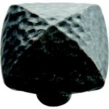 Hickory Hardware P3062-BI Square Knob, dia. 1-1/4, Black Iron, Mountain Lodge