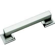 Hickory Hardware P3011-SN Footed Handle, Centers 96mm, Satin Nickel, Studio Series