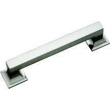 Hickory Hardware P3012-SN Footed Handle, Centers 128mm, Satin Nickel, Studio Series