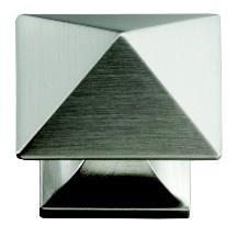Hickory Hardware P3015-SN Square Knob, dia. 1-1/4, Satin Nickel, Studio Series