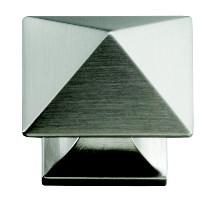 Hickory Hardware P3015-SS Square Knob, dia. 1-1/4, Stainless Steel, Studio Series