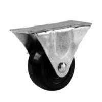 Shepherd 9483, Plate Mount Rigid Caster Without Brake, Medium Duty, 3in, 210lb Capacity, Plate Size 2-1/2 x 4-15/16in