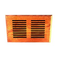 All American D412-O, Wood Air Vent, Unfinished Wood, Hole Size 4 x 12, Red Oak