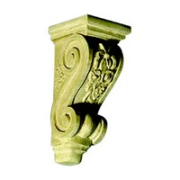 CVH International CF-10AB-M, Hand Carved Wood Corbel, Floral Collection, 4 W x 4-1/4 D x 10 H, Maple