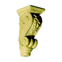 CVH International CG-14AB-M, Hand Carved Wood Corbel, Grape Collection, 4-7/8 W x 5-1/4 D x12 H, Maple