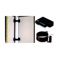 Meier 660-00-60, Modesty Panel Clip Set, Clips Used to Attach Panels to Steel Legs, Black