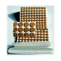 WE Preferred FDCP5, Round Cork Bumpers, Self-Adhesive, 3/8 dia. x .075in Height, 1,000-Pack