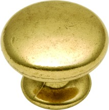 Hickory Hardware P406-LP Round Plain Knob, dia. 1-1/4, Lancaster Brass, Manor House