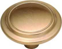 Belwith P413-SBZ Round Ring Knob, dia. 1-1/4, Satin Bronze, Eclipse