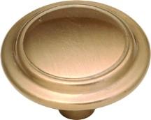 Hickory Hardware P413-SBZ Round Ring Knob, dia. 1-1/4, Satin Bronze, Eclipse